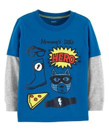 Carter's Graphic Layered-Look Tee - Blue