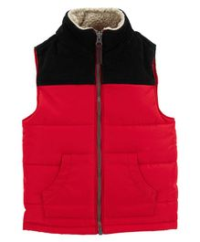 Carter's Zip-Up Puffer Vest - Red Black