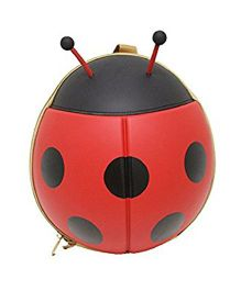 VISMIIMTREND 3D Ladybug Toddlers Backpack Red - 11.3 inches