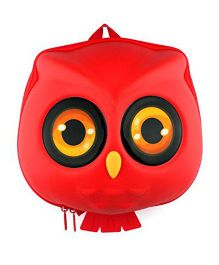 VISMIIMTREND 3D Owl Toddlers Backpack Red - 11.3 inches