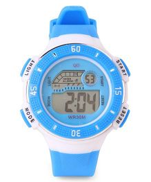 Digital Wrist Watch - Sky Blue White