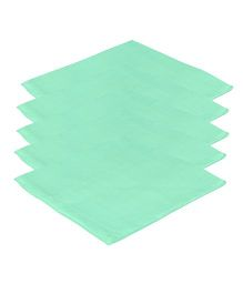 Lula Reusable Muslins Squares Nappies Pack of 5 - Green