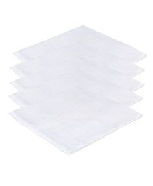 Lula Reusable Muslins Squares Nappies Pack of 5 - White