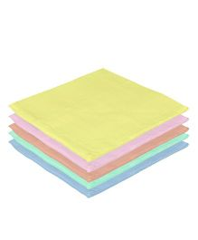Lula Reusable Muslins Squares Nappies Pack of 5 - Multi Color