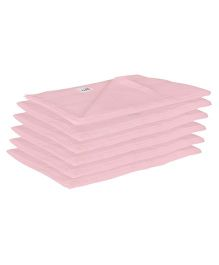 Lula Reusable Muslins Squares Nappies Pack of 6 - Pink