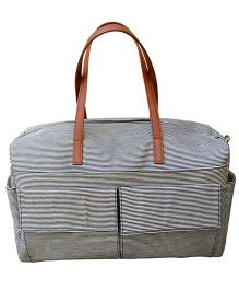 Strut Diaper Bag With Sturdy Handles - Grey