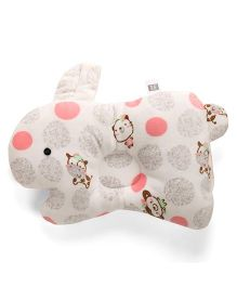 Mee Mee Bunny Shaped Pillow - Peach White