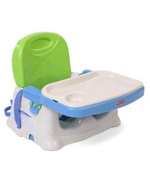 Fisher Price Healthy Care Deluxe Booster Seat - Green & Blue