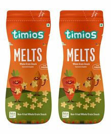 Timios Melts Carrot & Cumin Whole Grain Snacks - Pack of 2
