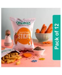 Timios Carrot and Cumin Sticks Kids Snacks - Pack of 8