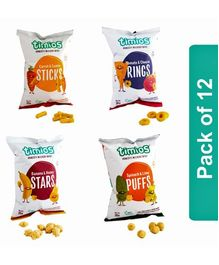 Timios Kids Snack Mix Flavors Pack of 8 - 30 gm each