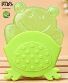 Babyhug Froggy Water Filled Teether With Holder - Dark Green