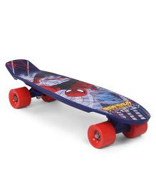 Marvel Spiderman Character Printed Skateboard - Blue Red