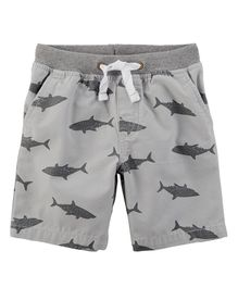 Carter's Easy Pull On Dock Shorts - Grey