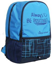 Polestar Back Pack Positive Print Blue - 18 inches