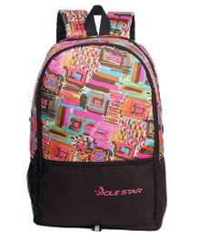 Polestar Back Pack Abstract Print Multicolour - 18 inches