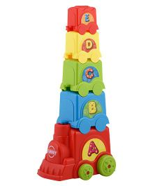 Curtis Toy Stack Train - Multi Colour