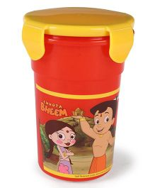 Chhota Bheem Tumbler With Lid - Red & Yellow