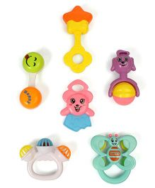 Dr.Toy Baby Rattles Pack of 6 - Multicolour
