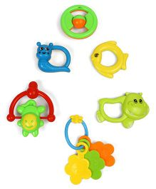 Dr.Toy Baby Rattle Set Pack of 6 (Assorted Designs And Colours)