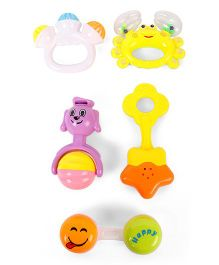 Dr.Toy  Baby Rattle Set Pack of 5 (Color And Pattern May Vary)