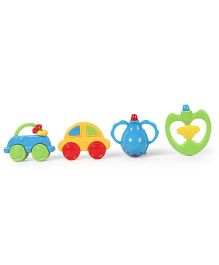 Dr.Toy Baby Rattle Set Pack of 4 (Color May Vary)