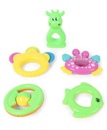 Dr.Toy  Baby Rattle Set Pack of 5 (Color And Style May Vary)