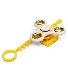Dr. Toy Bay Blade Spinner Toy - White & Yellow