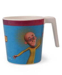 Motu Patlu Large Coffee Mug Off White Blue - 320 ml