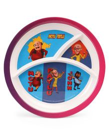 Motu Patlu Round Plate - Multi Colour