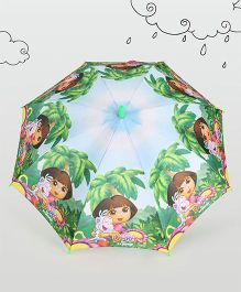 Dora Printed Umbrella - Green