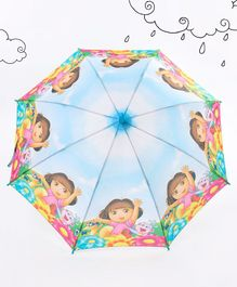 Dora Printed Umbrella - Sky Blue