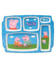 Peppa Pig 5 Partition Plate - Blue