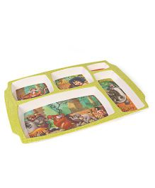 Disney The Jungle Book 5 Partition Plate - Green