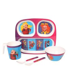 Motu Patlu Printed Feeding Set Pack of 5 - Multi Color
