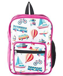 The Yellow Jersey Company School Bag Pink - Height 14 inches
