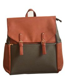 Strut Backpack Style Diaper Bag - Brown Olive