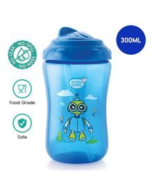 Buddsbuddy Premium Sipper Cup With Straw Lid Blue - 380 ml