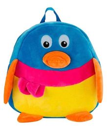 Frantic Velvet Nursery Penguin Bag Multicolour - Height 14 inches