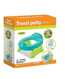 Toys Bhoomi 2 in 1 Baby Travel Potty & Toilet Trainer Chair  - Blue
