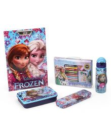 Disney Frozen School Kit Pack Of 5 - Blue Pink