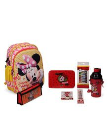 Disney Minnie Mouse School Kit Character Print Pack of 4 - Yellow & Red