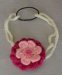 Daffodils Dual Color Headband With Flower - Magenta & Pink