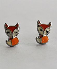 Bobbles & Scallops Fox Stud Earring - Orange