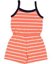 Crayonflakes Stripes Jumpsuit - Orange & Black