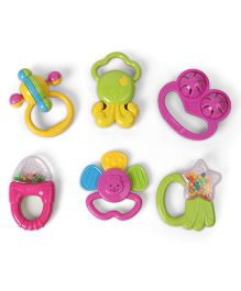 Dr. Toy Rattle Set - Pack of 6 (Color & Style May Vary)
