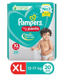 Pampers Pant Style Diapers Extra Large Size - 20 Pieces