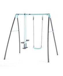 Plum Metal Single Swing And Glider With Mist Feature - Blue