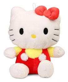 Hello Kitty Plush Soft Toy With Bow Red Yellow  - Height 40 cm