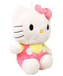Hello Kitty Plush Soft Toy With Bow Pink Yellow  - Height 40 cm